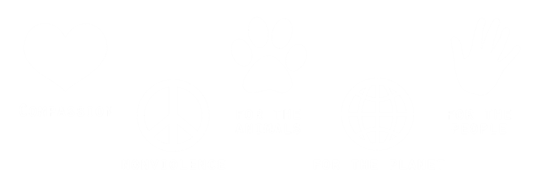Compassion, Non-violence, For the animals, For the planet, For the people